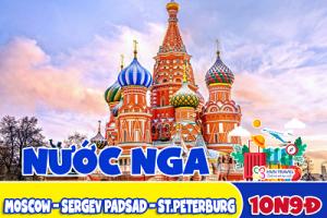 Tour du lịch Nga – MOSCOW – SERGEV PADSAD – ST.PETERBURG